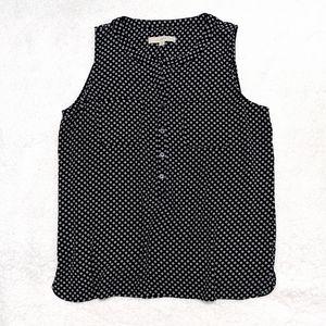 LOFT sleeveless blouse Large